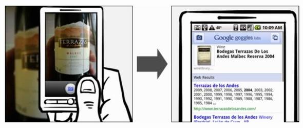 携帯で撮った写真で検索できる「Google Goggles」を発表