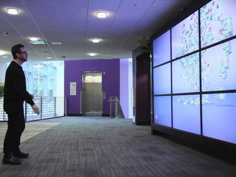 Yahoo! 3D Gesture Control Installation