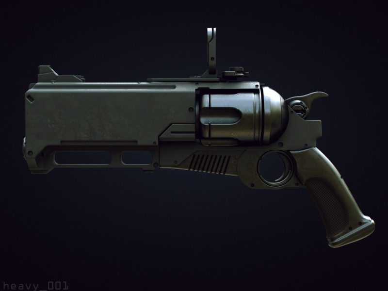 modoで銃を1時間でモデリングするムービー