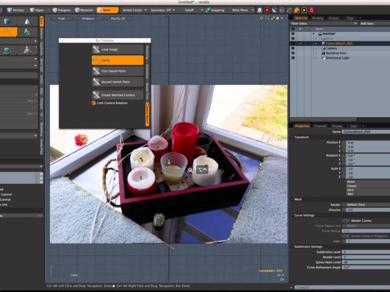 modoのカメラマッチスクリプト「BJsToolbox - CameraMatch」