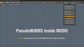 Pseudo NURBS for MODO
