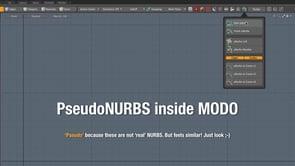 Pseudo NURBS for MODO