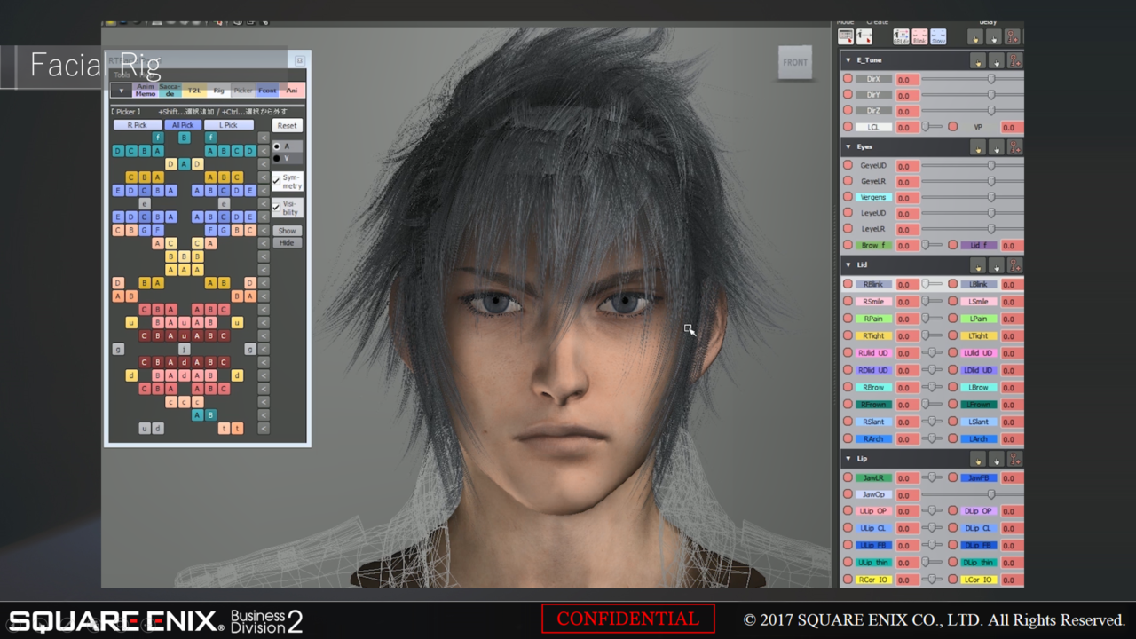 FINAL FANTASY XV Character Setup workflow