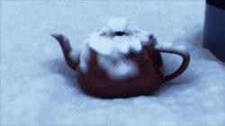 ディスプレイスメントで雪が表現