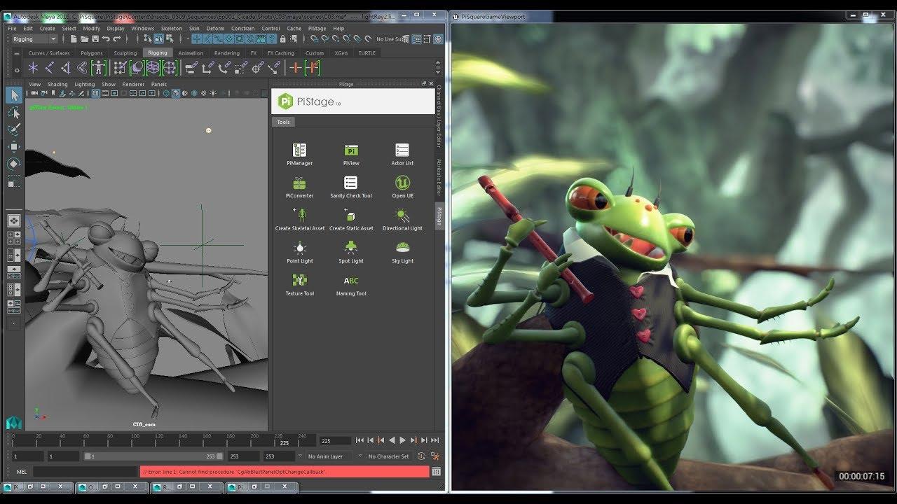 MayaからUnrealEngineを制御「PiStage」