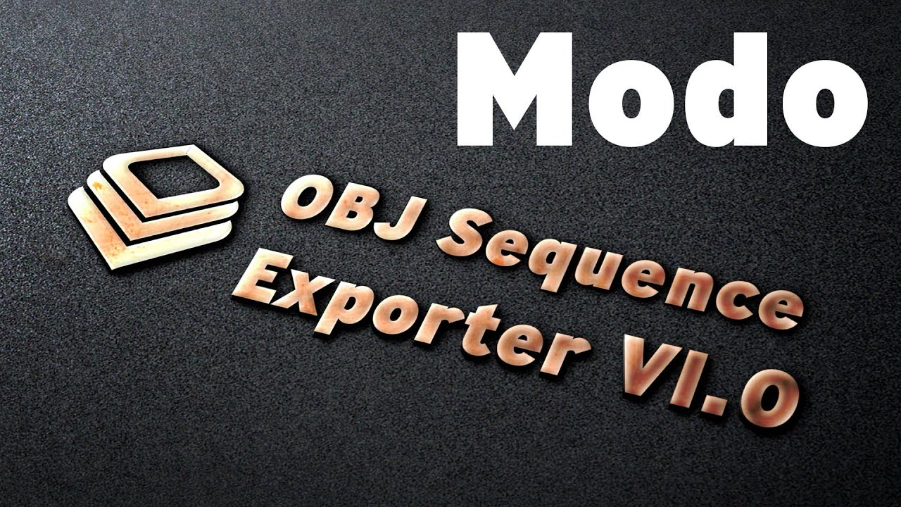 Obj Sequence Exporter for MODO