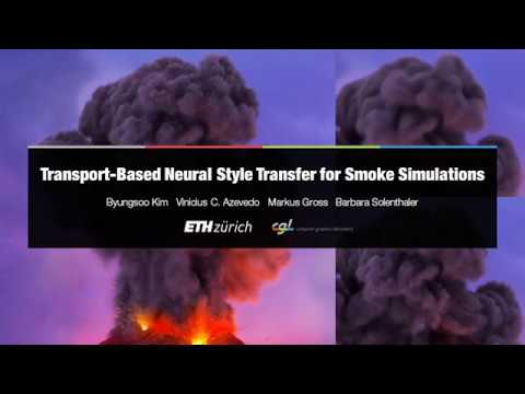 Transport-Based Neural Style Transfer for Smoke Simulations