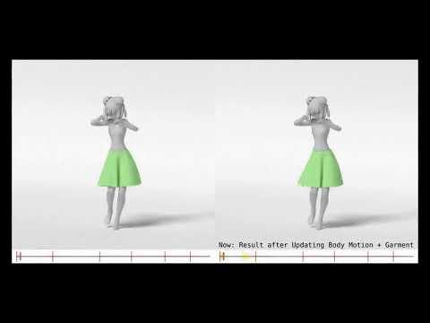 服飾アニメーションのインタラクティブオーサリングのための組み込みの服飾スペース学習