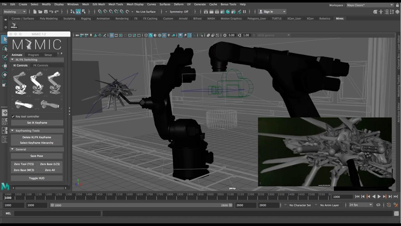 Mayaで制御する産業用ロボット