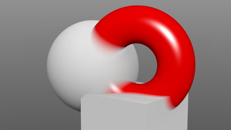 modoで交差したオブジェクトの境界をやわらかくする方法