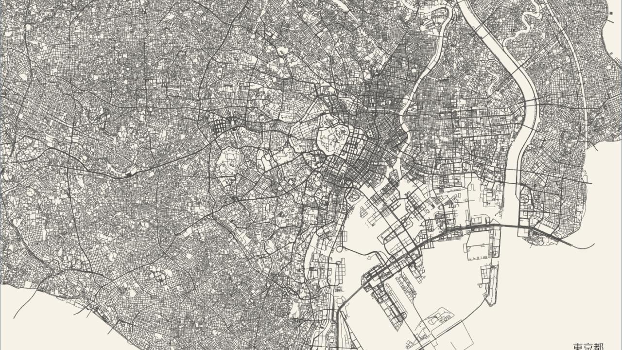 OpenStreetMapから道路を表示してsvg出力できるサービス