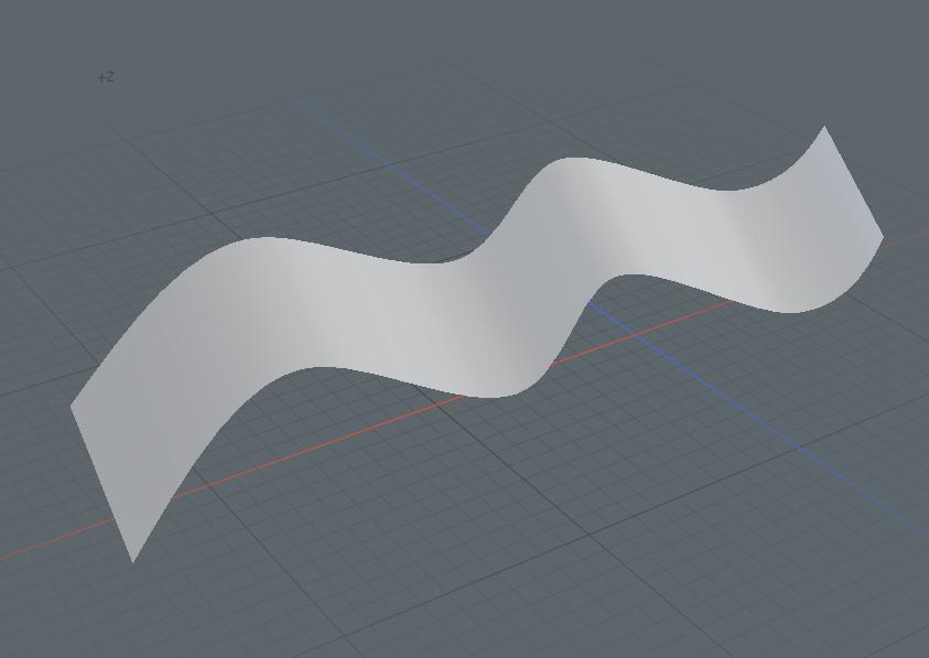 modoでカーブから面を作成する方法