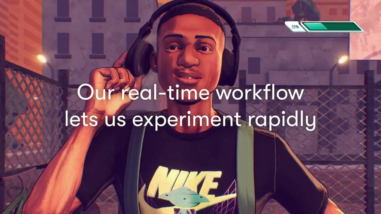 Unityを使用して作成したNikeの広告アニメーション