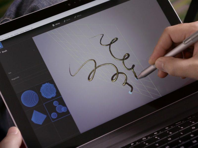 Adobeのスカルプトソフト、フェイスペイント、写真編集のインテリジェントアシスタント