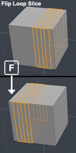modoのループスライスツールで、スライス位置を反転するスクリプト