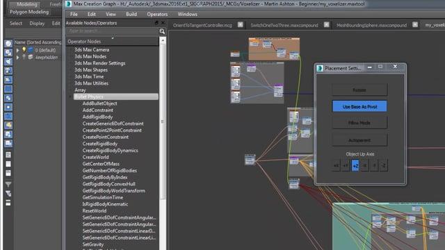 Max Creation GraphがアニメーションコントローラーやBullet physics対応
