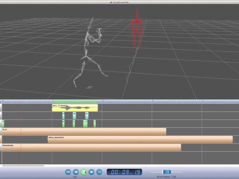 modoとモーション連携するソフト「Gorilla Animation Sequencer」