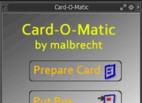 Card-O-Matic KIT for modo