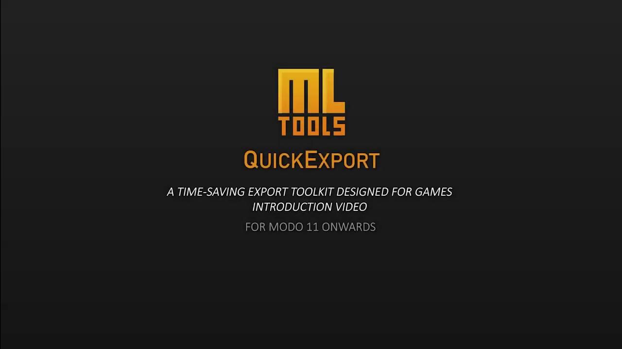 Modo QuickExport Plugin